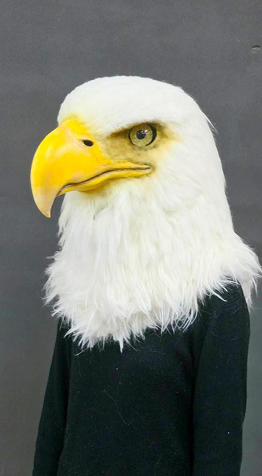 [写实动物头套]「bad lab」老鹰面具制作 bald eagle mask