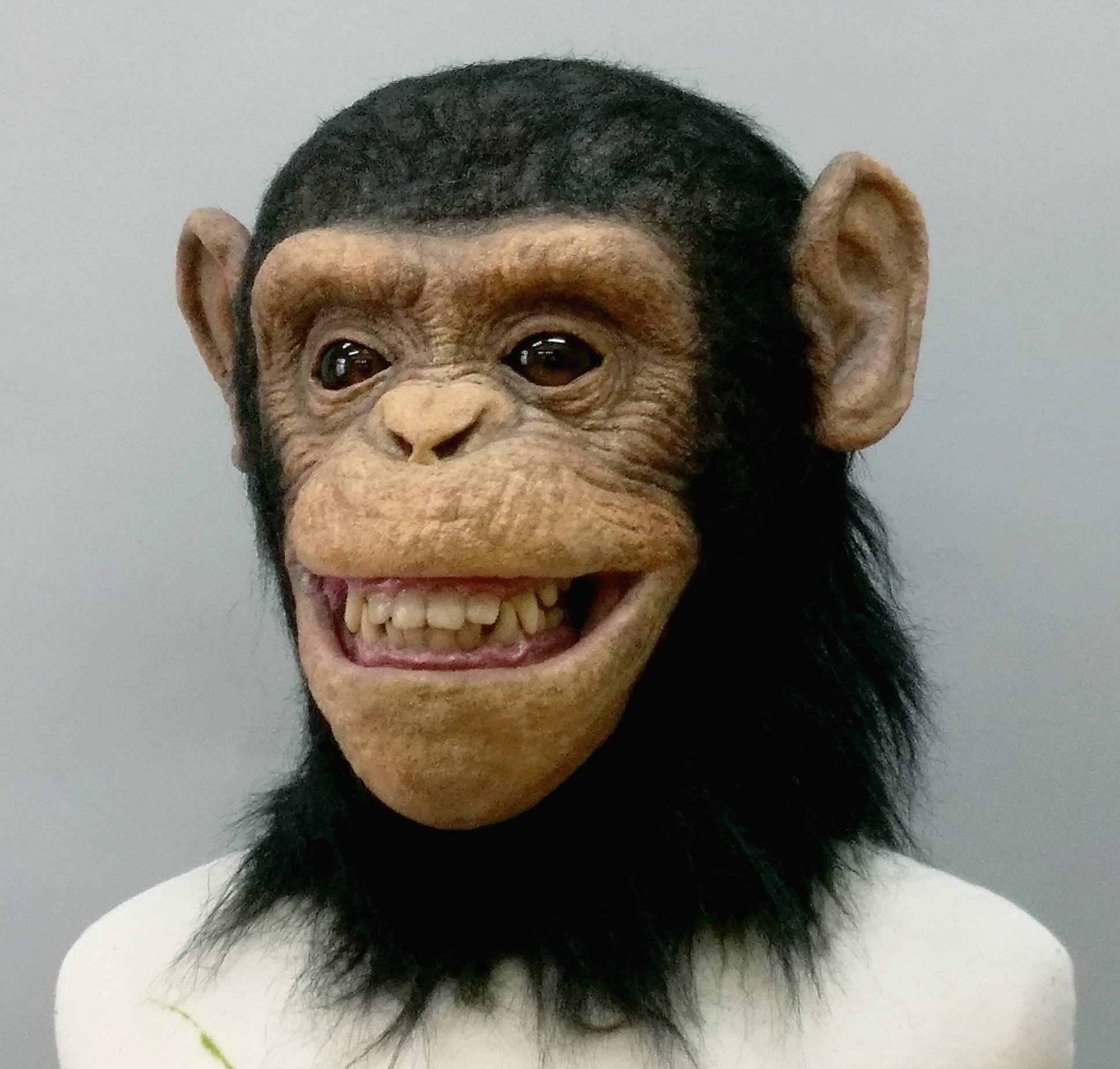 [写实动物头套] 魔人社黑猩猩面具制作 chimpanzee mask